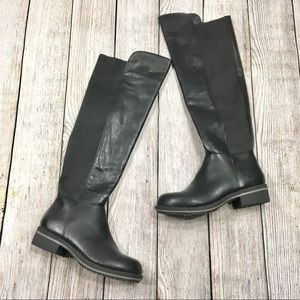 {madden girl} Black Lasso Knee High Boots
